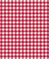 Goedkope servetten geruit rood wit laags stuks