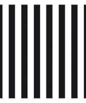Goedkope servetten gestreept zwart wit laags stuks