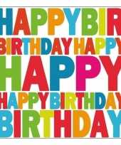 Goedkope servetten happy birthday stuks 10079217