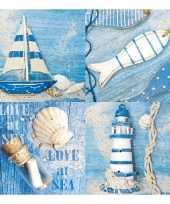 Goedkope servetten maritiem thema stuks