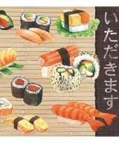 Goedkope servetten sushi laags stuks
