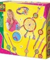 Goedkope sieraden dromenvanger hobby set kinderen