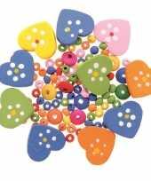 Goedkope sieraden maken kralenmix set hart