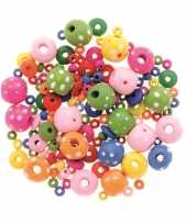 Goedkope sieraden maken kralenmix set rond stippen