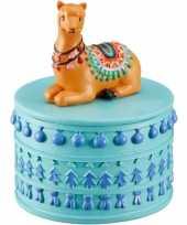 Goedkope sieradendoosje bruine lama alpaca rond