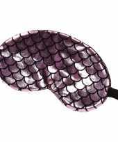 Goedkope slaapmasker oogmasker zeemeermin roze zwart volwassenen