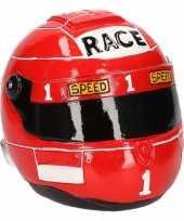 Goedkope spaarpot rode race helm