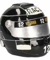 Goedkope spaarpot zwarte race helm