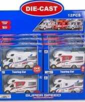 Goedkope speelgoed auto camper wit rood