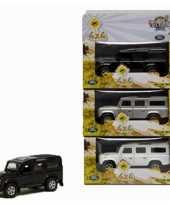 Goedkope speelgoed auto zwarte land rover
