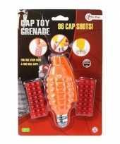 Goedkope speelgoed handgranaat plaffertjes schoten oranje c