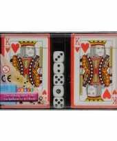 Goedkope speelkaarten dobbelstenen set