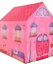 Goedkope speeltent speelhuis roze huis