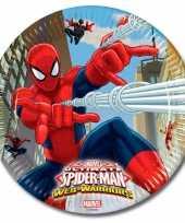 Goedkope spiderman feestbordjes warrior x