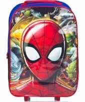 Goedkope spiderman handbagage reiskoffer trolley kinderen