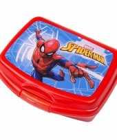 Goedkope spiderman lunchbox rood