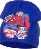 Goedkope spiderman muts blauw jongens