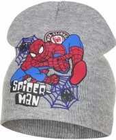 Goedkope spiderman muts grijs jongens