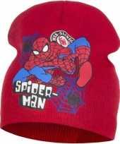 Goedkope spiderman muts rood jongens
