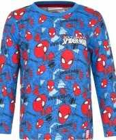 Goedkope spiderman t shirt blauw jongens 10076445