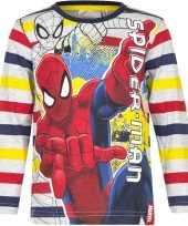 Goedkope spiderman t shirt gestreept jongens