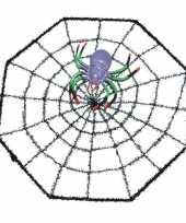 Goedkope spinnenweb halloween versiering spinnetje