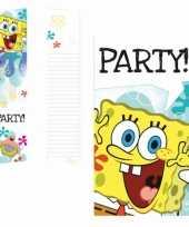 Goedkope spongebob thema uitnodigingen stuks