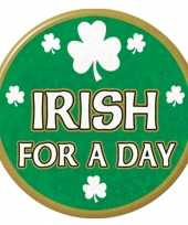 Goedkope st patricks day button irish for a day