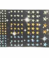 Goedkope sterren diamant strass stickertjes groen geel blauw stuk