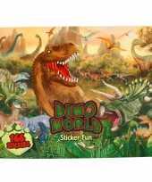 Goedkope stickerboek dinosaurus jongens