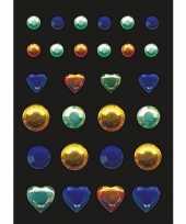 Goedkope stickers blauwe groene gele strass steentjes