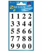 Goedkope stickervel cijfers zwart mm stuks 10143839