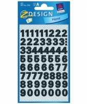 Goedkope stickervel cijfers zwart mm stuks