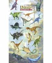 Goedkope stickervel dinosaurus