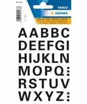 Goedkope stickervel letters zwart mm x