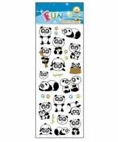 Goedkope stickervel panda