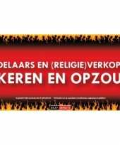 Goedkope sticky devil bedelaars religie verkopers omkeren opzouten