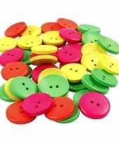 Goedkope stuks gekleurde houten knopen mm