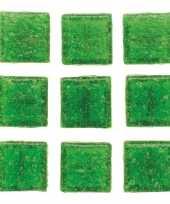 Goedkope stuks vierkante mozaieksteentjes groen