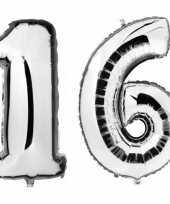 Goedkope sweet zilveren folie ballonnen leeftijd cijfer jaar