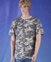 Goedkope t shirt digi camouflage