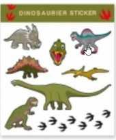 Goedkope tattoo stickers dinosaurussen stuks