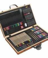 Goedkope tekenset kleurset koffer