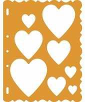 Goedkope tekensjabloon hartjes