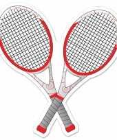 Goedkope tennisracket decoratie