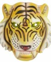 Goedkope tijger kindermasker plastic