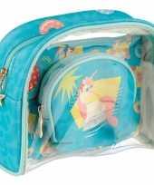 Goedkope toilettas make up tassen set eenhoorn unicorn kinderen