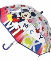 Goedkope transparante disney mickey mouse paraplu jongens