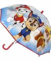 Goedkope transparante paw patrol chase paraplu jongens