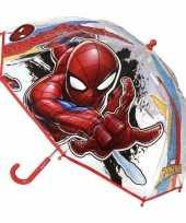 Goedkope transparante spiderman paraplu jongens